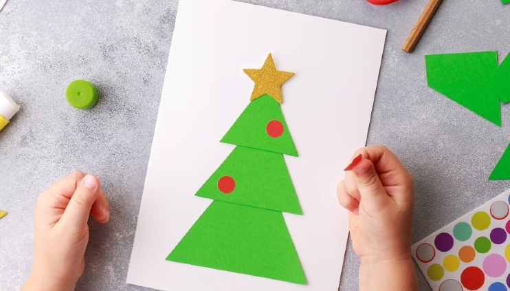 Christmas paper plate crafts trees
